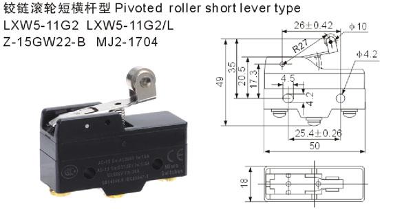 tm-1704,z-15gw22-b,lxw5-11g2微动开关